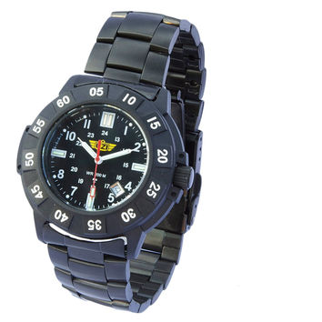 UZI Protector Tritium H3 Watch with Metal Strap - Black