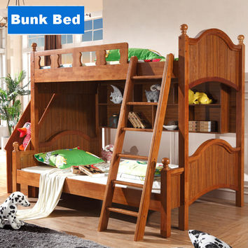Webetop Upscale Wooden Mother Bunk Beds With Ladder Cabinet Composite Bed Kids Householde Furniture Children's Bedroom Furniture