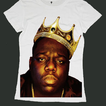 THE NOTORIOUS BIG screen print women t shirt ety187w