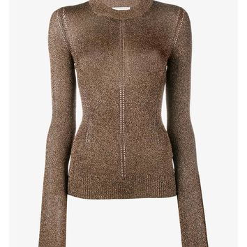 Lurex Knitted Long Sleeve Top - CHRISTOPHER KANE