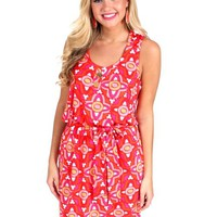 Smooth Sailing Pink And Orange Tie Waist Dress | Monday Dress Boutique