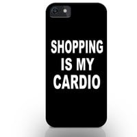 Shopping is my cardio iphone case, quotes iphone case, best iphone cases, black iphone case, iphone hard case, iphone 4/4s/5c/5/5s/6/6+