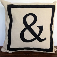 Reversible Personalized letter throw pillows-18 inches- Monogram Pillows, customized in any two letters or symbols