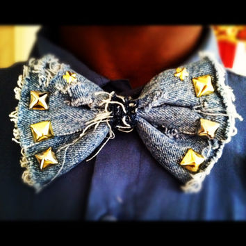 Custom Denim Bow/ Bow Tie UNISEX