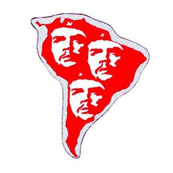 Che Guevara Men's S. America Woven Patch Red