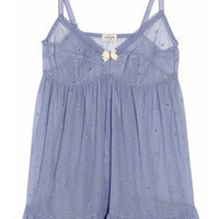 Myla Daisy Swiss dot mesh chemise - 65% Off Now at THE OUTNET