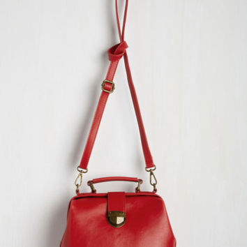 Vintage Inspired Enroll With It Bag in Cherry by ModCloth