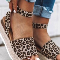 Catch You Later Cheetah Espadrille Sandals