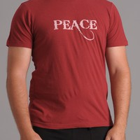 Mens - Chewy Lou PEACE T-shirt - Red