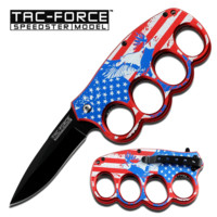 """5"""" Spring Assisted Knife with Finger Guard"""