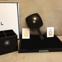 Chanel Limited Edition VIP Gift Mirror Pen Holder Makeup Cosmetic Tray Organizer