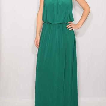 Emerald Green Dress Maxi dress Party dress Women dress
