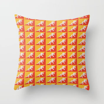 flag of bhutan 2-Bhutan, Himalaya, South Asia,Bhutanese, bhoutan, bhoutanais Throw Pillow by oldking