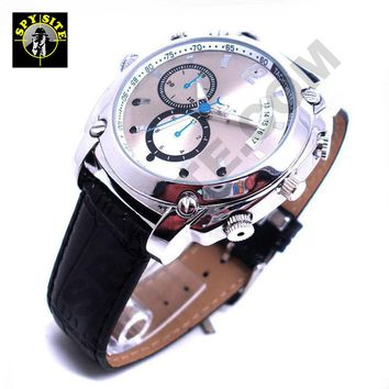 Night Vision Spy Watch Camera with Leather Wrist Band