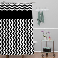 chevron balck and white Custom Shower curtain decorative shower curtain size 36x72,48x72,60x72,66x72
