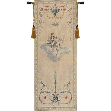 Portiere Blue Lady  European Tapestry Wall Hanging