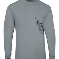 Men's Marlin Wrap L/S UV Fishing T-Shirt