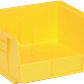 "Quantum Storage Systems Stack And Hang Bin, 10-7-8"" X 11 X 5"", Yellow"