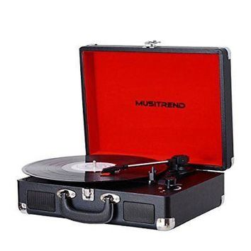 Portable Turntable Vinyl Record Player Red Crosley Crusier 3 Speed Vintage New