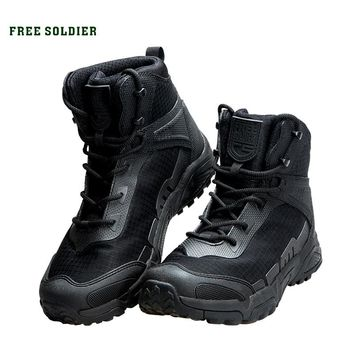 FREE SOLDIER outdoor sports hiking tactical military men boots tear-resistant shoes for climbing camping
