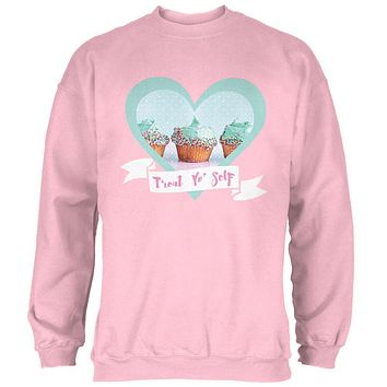 Treat Yo Self Cupcakes Mens Sweatshirt