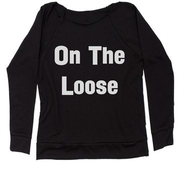 On The Loose Slouchy Off Shoulder Oversized Sweatshirt