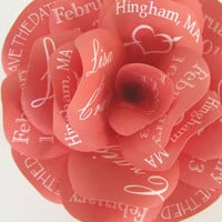 Custom Save The Date  Rose Magnet-Tangerine Tango