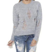 Pullover Slashed Sweater | Shop Sweaters at Wet Seal