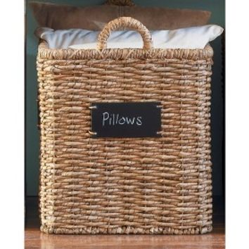 """Smith & Hawken® Square Basket with chalkboard; 18"""""""