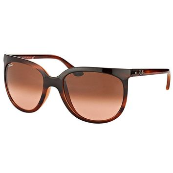 Ray-Ban Cats 1000 RB 4126 820/A5 Stripped Havana Sunglasses Pink Gradient Lens