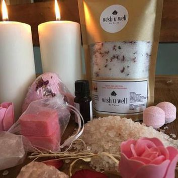 Bath salts,relaxation gift, Rose bath salts