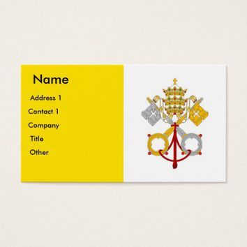 Business Card with Flag of Vatican