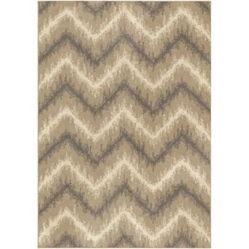 Threshold™ Chevron Ikat Fleece Rug - Beige