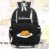 Preppy Style Cute Gudetama Backpack Cosplay Canvas Bag Luminous Schoolbag Travel Bags packsack