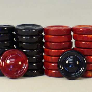 Black & Red Alabaster Checkers