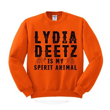 Lydia Deetz is My Spirit Animal (Beetlejuice) Crewneck Sweatshirt