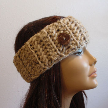 Chunky Headband Warm Winter Women's Chunky Earwarmer / OATMEAL / Gift for Her / Womens Accessories / Fall Fashion / Winter Apparel