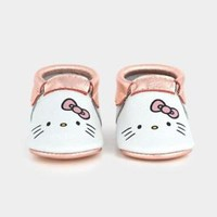 Freshly Picked Hello Kitty Limited Edition Size 4 Rose Gold Metallic Moccasins