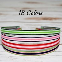 Fun stripe headbands for toddlers, girls and adult women. Felt is added to ends for more comfort behind the ears. Your Final Touch Hair Accessories