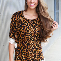Miss Cheetah Blouse