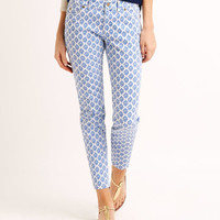 Gustavia Printed Ankle Jeans