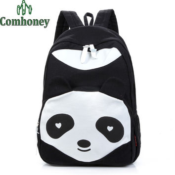 School Bags Panda Backpacks for Girls Kawaii 3D Cartoon Animal Children's School Backpack for Teenagers Kids Girls Schoolbags