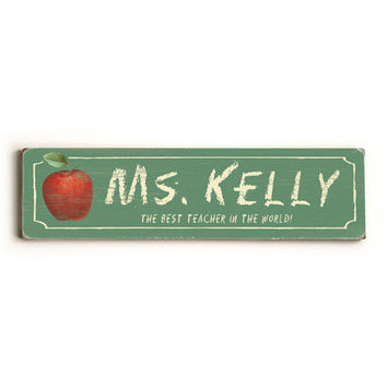 Personalized Teacher Wood Sign