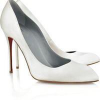Christian Louboutin chiara 100 satin pumps