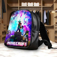 Minecraft Game Galaxy Backpack, School Bag, Bag Kids Fun and Be Your Self