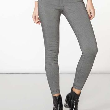 pull on monchrome bengaline trousers - Pants & Leggings - Clothing