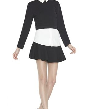 alice + olivia | FAUX LAYERED SWEATSHIRT BLOUSE