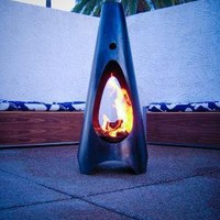 Modfire  Modern Outdoor Fireplace by Modfire on Etsy
