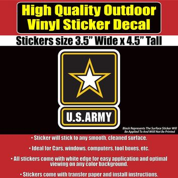 US Army Star Vinyl Vehicle Car Window Bumper Sticker Decal