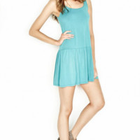 Michael Lauren Tank Mini Dress in Lagoon - New Arrivals